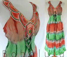FABULOUS TIE DYE  DRESS FUNKY FESTIVAL HIPPY  BOHO PEASANT GYPSY GLASTO FAIRY 16