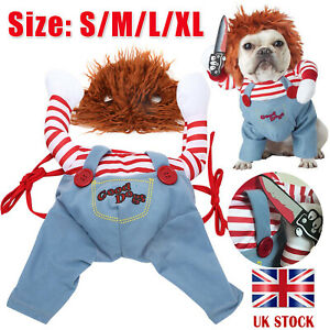 Pets Dogs Costume Party Chucky Halloween Cosplay Poppy Fancy Dress Jumpsuits New