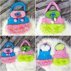 Webkinz Pet Carrier Purse LilKinz Pet Holder by Ganz Green Lot Of 2 Blue Pink
