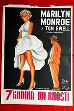 SEVEN YEAR ITCH MARILYN MONROE 1955 EXTRA RARE EXYU MOVIE POSTER UNIQUE
