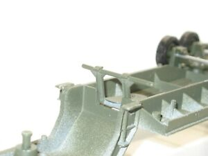 Solido Stand Metal Painted Khaki For Trailer Berliet T12 Ring Char Military