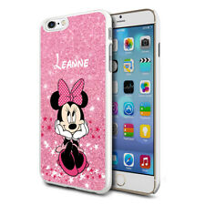 Personalised Glitter DISNEY Minnie Mouse Phone Case Cover For Apple Samsung - 02