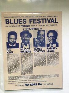 BB KING Muddy Waters  James Cotton  Ramsey Lewis handbill
