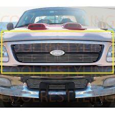 For Ford F-150 Pickup/Light F-250 (Except Lariat) 97-98 Upper Billet Grille 2pcs