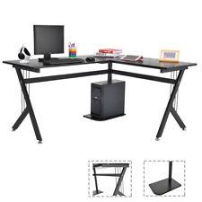 Computer Table Desk L-Shape Corner Office Sturdy Furniture Computer Workstation