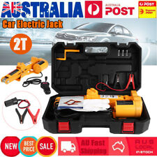 Auto 12V Electric Scissor Jack Lift 2T Car SUV Automotive Remote Hoist Tool Box