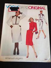 Vogue 2427 Uncut Sewing Pattern, Misses' Dress, Size 8, Emanuel Ungaro