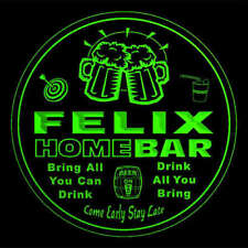 4x ccq14259-g FELIX Home Bar Ale Beer Mug 3D Engraved Drink Coasters