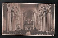 L@@K  Nave Ripon Cathedral 1940's ? Postcard Yorkshire