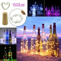 15 20 LED Cork Copper Wire Fairy String Lights Wine Bottle For Xmas Party Decor