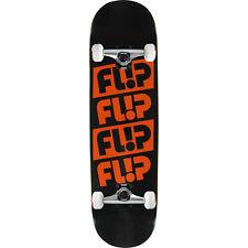 "Flip Skateboard Complete Odyssey Quatttro Black 8.25"" Raw trucks Assembled"