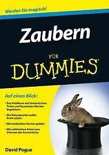 Zaubern für Dummies von Pogue,  David | Buch | Zustand gut