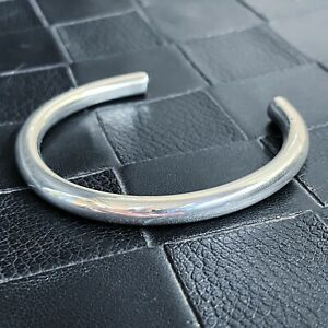 Solid 999 Heavy Silver Torque Bangle Cuff Handmade For Men And Women Round Shiny