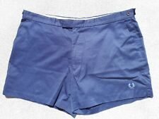 Vintage Fred Perry Mens Size W44 Blue Tennis Shorts Chino Retro Fashion Wear 44""