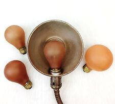 (4) Vintage Red Medium Household Base Painted Light Bulb