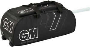 2021 Gunn & Moore 606 Wheelie Cricket Bag - Black - Free P&P