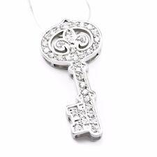Kappa Kappa Gamma sterling silver key pendant with beautiful CZs NEW!