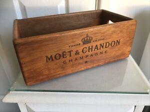 Moet Chandon Vintage Style Wooden Storage Box 26cm