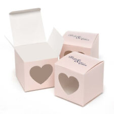 New Hbh Blush Pink Heart Window Favor Boxes 25 pc.