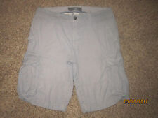 Mens H&M LOGG Cargo shorts~Cotton~Size 34~Blue/wh stripe~Preowned~good~loose fit