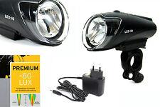 B+M Ixon IQ Premium 80 LUX Fahrrad Scheinwerfer inkl. Akkus BUSCH+MÜLLER Lampe