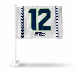 Seattle 12th Man 11X14 Window Mount Two-Sided Car Flag, Seahawks