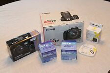 Canon EOS Rebel T6 digital camera kit w/ 18-55mm lens, flash and lots of extras!
