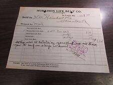 MORRISON LIFE BELT CO (LIFE PRESERVERS)  - ST LOUIS MO.  - BILL HEAD - 1904