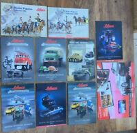 10 x Schuco A4 / A3 colour catalogues brochures poster 2005 to 2011 cars figures