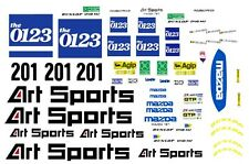 #201 Art Sports Mazda 787 1990 1/64th HO Scale Slot Car WATERSLIDE DECALS
