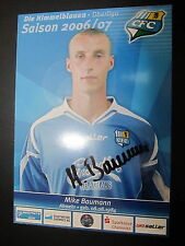 1419 Chemnitzer FC CFC Mike Baumann 2006 - 2007 original signierte AK
