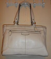 Coach Penelope Genuine Leather Multi Tote Bag Stone 14684 NWT