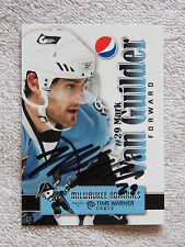 Nashville Predators Mark Van Guilder Signed 09/10 Milwaukee Admirals Card Auto
