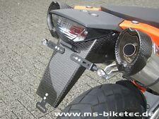 Soporte de matrícula de carbono Ktm SM 950 SM 990 SMT smr lc8 Supermoto sin ABS