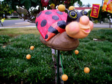 Lady Bug Garden Stake/ Statue/Figurine Ladybug Yard Art - Large