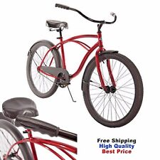 "Huffy Cruiser Bike 26"" MEN'S Red COMMUTER COMFORT CITY BEACH BICYCLE Cycling"