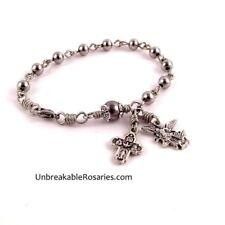 St Michael Rosary Bracelet Stainless Steel Beads Italian Medals Angel Archangel