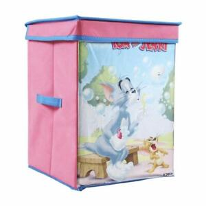 Tom & Jerry  Storage Box Big with Lid Toys Organizer for Kids, Large( Pink)