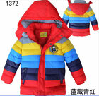new Winter Boys Girls Clothes Coat Kid Rainbow Down Jacket Size 2-6Y Outerwear