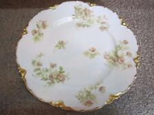 "Antique Limoges Haviland France Floral Gold Gilded Plate 8 1/2"" Flower Design"
