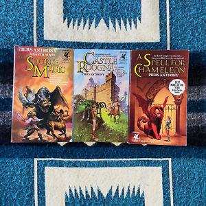 The Magic Of Xanth Trilogy Piers Anthony Ballantine 1977 Paperback Set