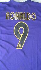 Camiseta Shirt Maillot Trikot REAL MADRID 9 RONALDO Season 2002 Size XL Away
