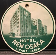 Hotel New Osaka ~ Osaka JAPAN ~ Vintage Cardboard Luggage Tag