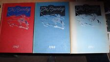 ROOSEVELT HIGH SCHOOL DES MOINES IA YEAR BOOKS 1943-1945 CLORIS LEACHMAN EUC