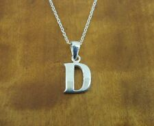 Initial D petite Sterling Silver 925 Pendant Chain NECKLACE