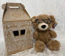 STUFFED Build-A-Bear COOL SCHOOL BEAREMY Big Head Mascot with Glasses w/ Box NEW