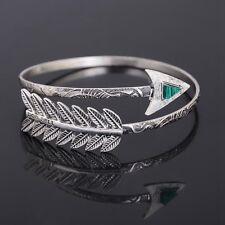 Boho Vintage Feather Arrow Arm Cuff Armlet Armband Bracelet Bangle Jewelry Gift