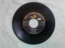 "Paul ANka"" My heart Sings/That's Love""45 record ABC 45-9987  EX"