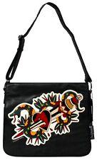 78045 Snake & Heart Dagger Tattoo Flash Retro Rockabilly Messenger Bag Sourpuss