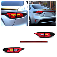 Pair Smoke LED Tail Lights For Toyota Corolla 2020 Rear Lamps Assembly Reversing